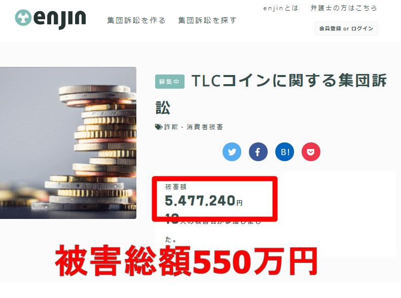 TLCコインに関する集団訴訟