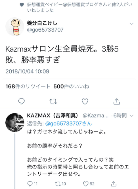 カズマックスのTwitter